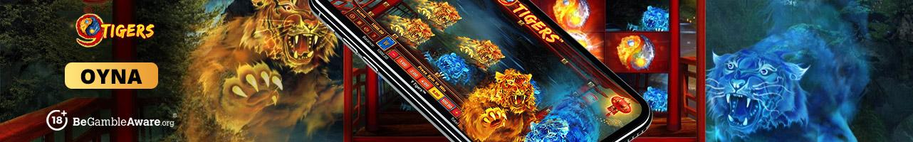 9 Tigers online slot oynayın