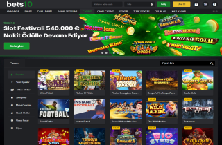 Bets10 Homepage Screenshot