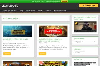 Mobilbahis Casino Homepage screenshot